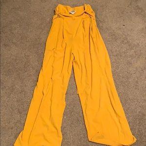 Yellow trouser pants